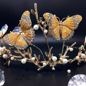 Gold Butterfly Headband Natalie