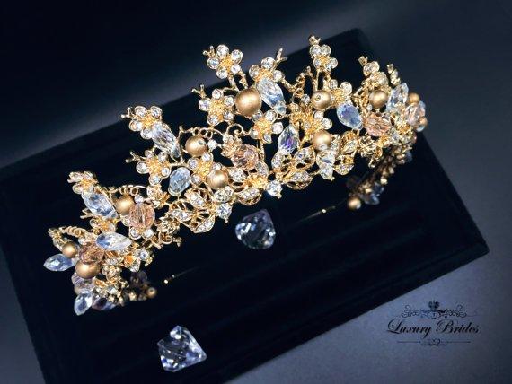 Bridal Pageant Rhinestones Crystal Wedding Prom Crown Tiara 7987