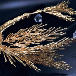 Golden Leaf Wedding Tiara