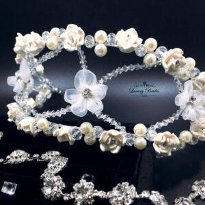 Pearl Wedding Tiara Zlata