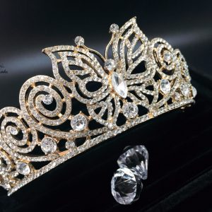 Crystal Wedding Tiara Butterfly