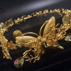 Gold Butterfly Headband Joli
