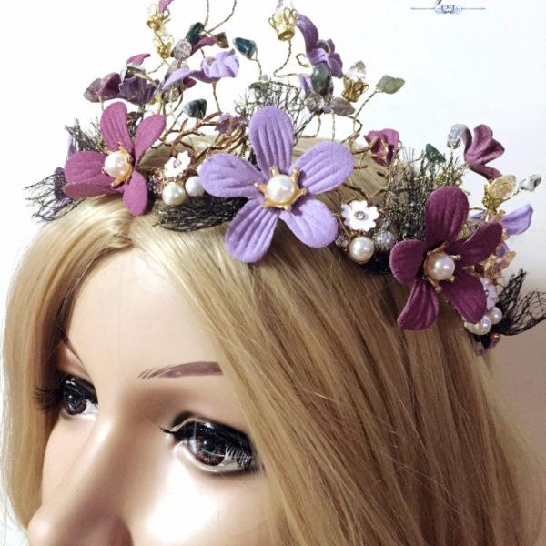 Flower Wedding Tiara Vesta