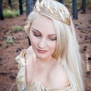 Gold Bridal Leaf Tiara