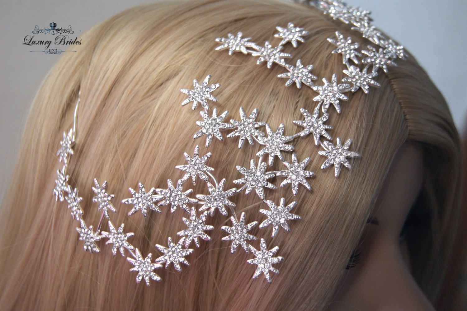 Crystal Wedding Headpiece Galaxy Luxury Tiaras