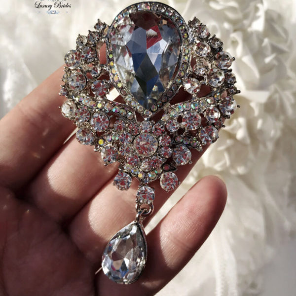 Crystal Wedding Brooch Madonna