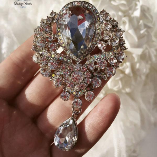 Crystal Wedding Brooch Madonna
