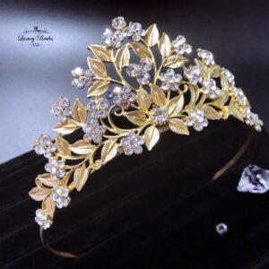 Crystal Gold Tiara Constance