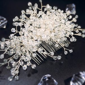 Crystal Bridal Hair Comb Lavandy