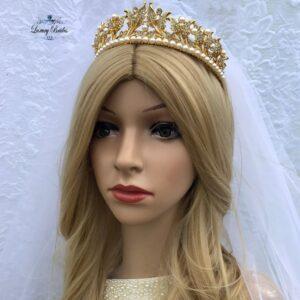 Pearl Wedding Tiara Rosalia
