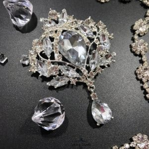 Crystal Wedding Brooch Samanta