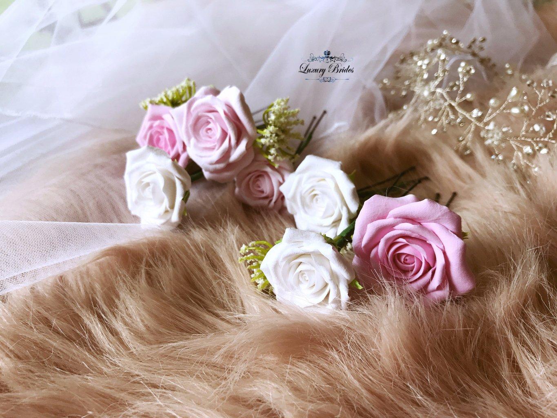 Bridal Hair Rose Pins Luxury Tiaras