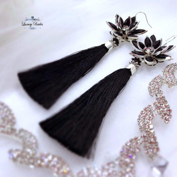 Tassel Earrings Dark Night
