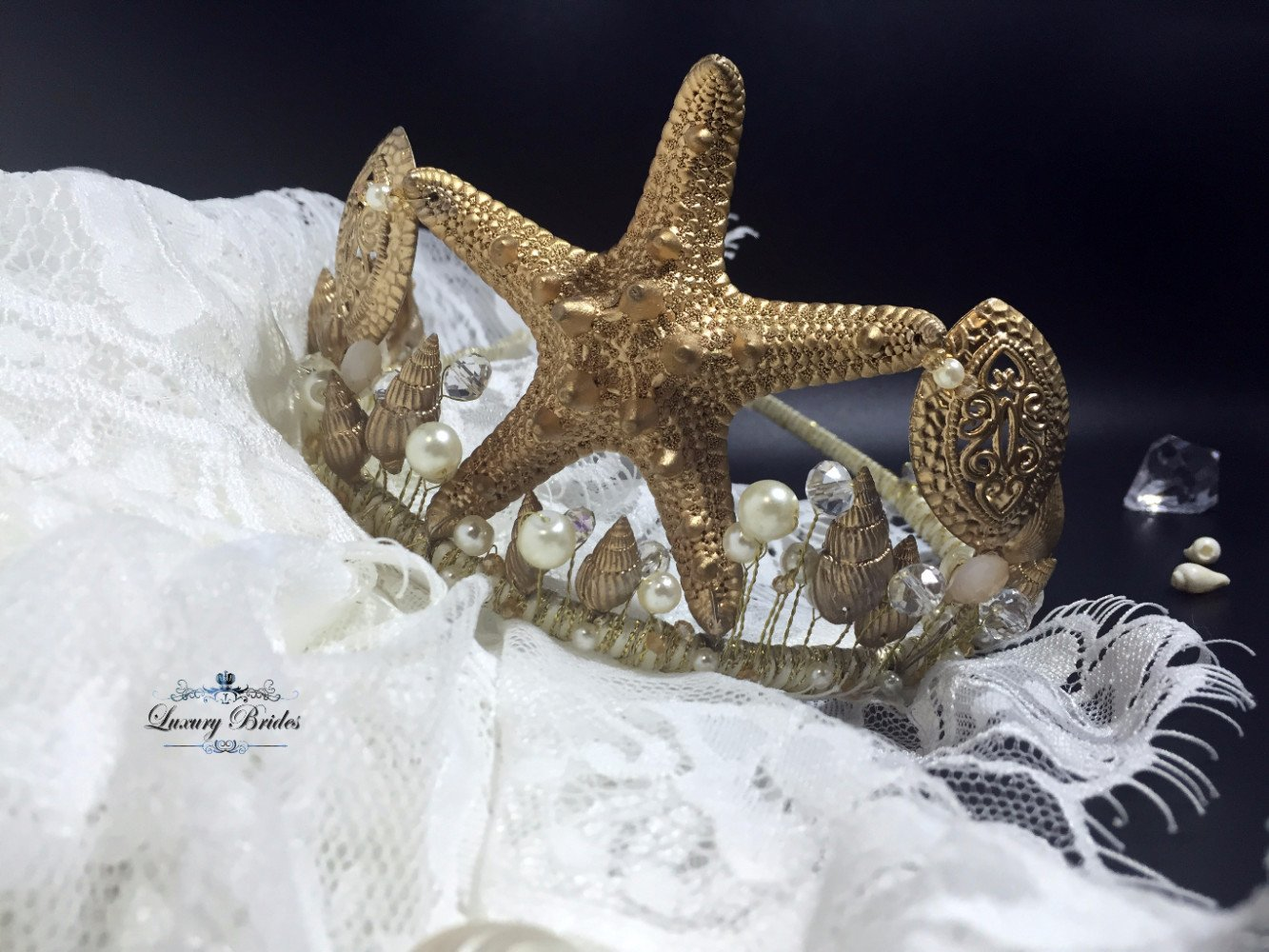 Beach Wedding Tiara Mermaid Luxury Tiaras