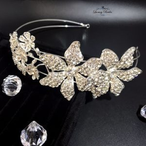 Silver Wedding Headpiece Amira