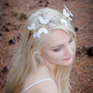 White Butterfly Headband Adriana